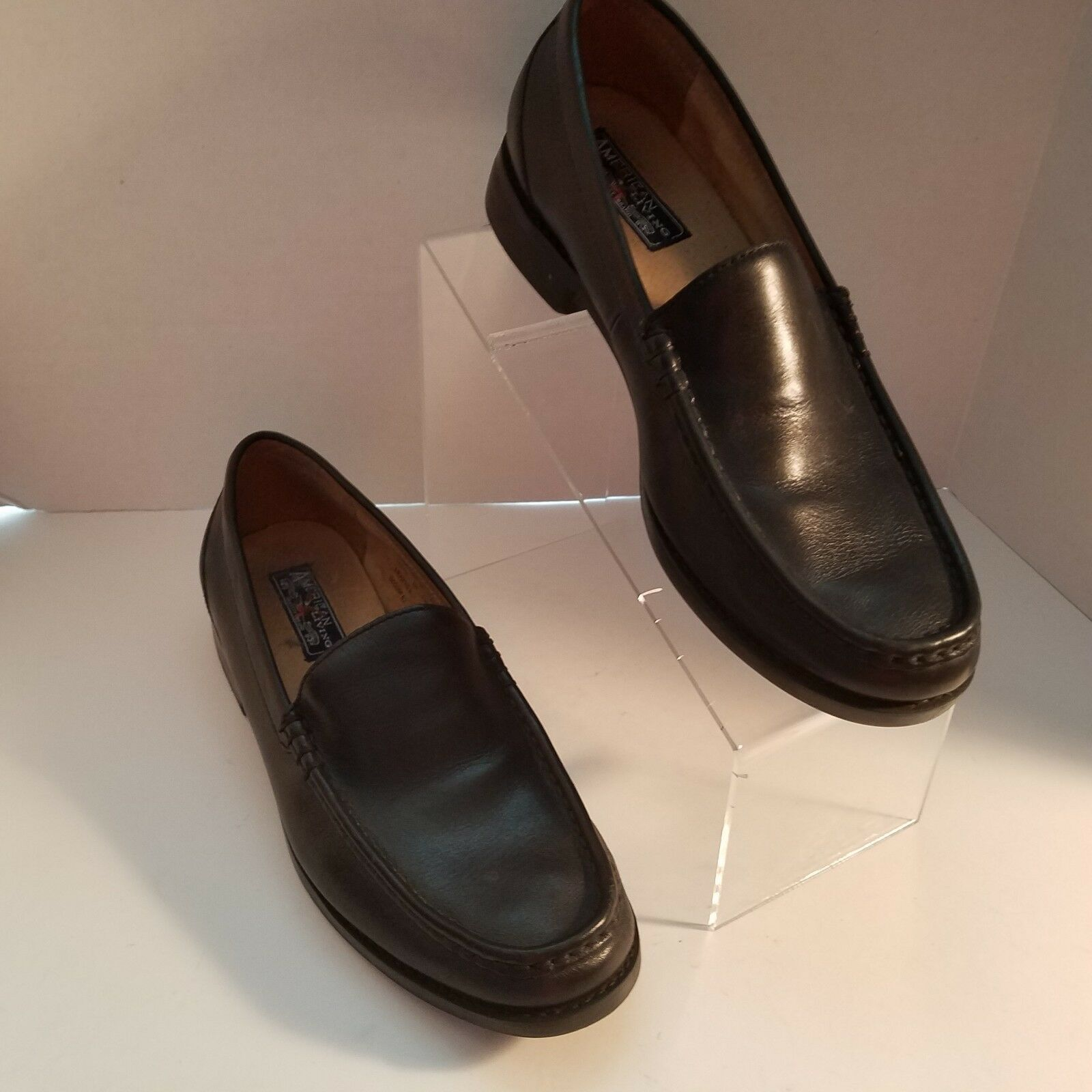 American Living Men's 8D Black Leather Loafers Size 8D Men's 819085158 R05 fc3ae5
