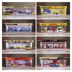 Geechan 1:64 Assemblée diorama éclairage DEL Garage RSF/Honda/Nismo/Rocket Bunny