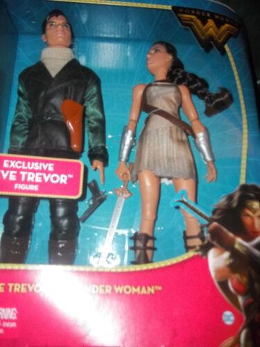 "Wonder Woman /& Steve Trevor série 12/"" 2017 New in Box Gal Gadot Nouveau Pack 2"