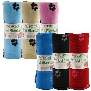 Warm-Pet-Mat-Paw-Print-Cat-Dog-Puppy-Fleece-Soft-Blanket-Bed-Cushion-One-Size