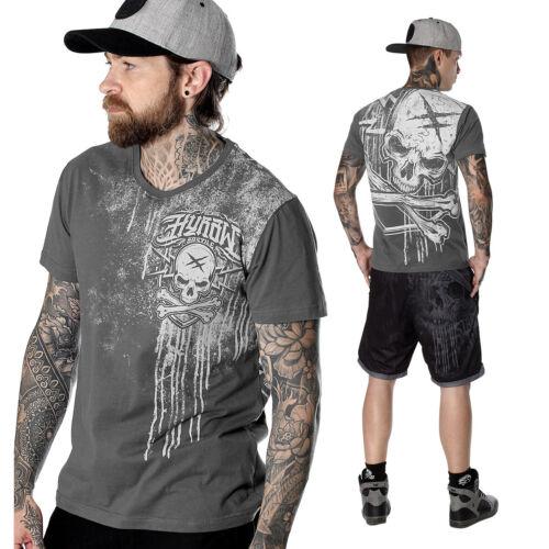 "grau HYRAW Herren T-Shirt /""Blue Badge/"" grey"