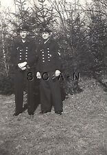 WWII German Navy RP- Kriegsmarine- 2 x Sailor- Double Button Jacket- Cap- Badge