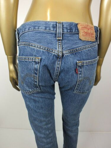 32 Denim 501 Red 100 Pants Tab Cotton 28 Levis Tapered Blue Jeans HYqPSP