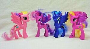 Lot of 4 G4 My Little Pony Brushable Princess Luna Cadance Twilight Sparkle MLP