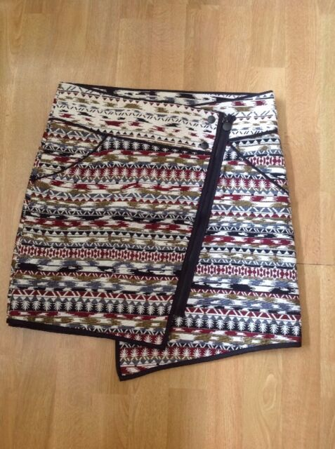 Unusual For Cynthia Aztec Patterned Mini Skirt UK Size 40 EBay Gorgeous Patterned Mini Skirt
