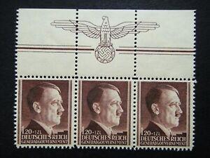 Germany-Nazi-1942-Stamp-MNH-Adolf-Hitler-53rd-birthday-Swastika-Eagle-Generalgou