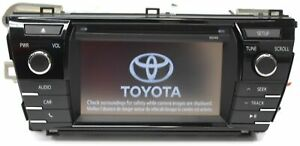 2014-2016 TOYOTA COROLLA RADIO STEREO CD PLAYER TOUCH-SCREEN 86140-02050 100149