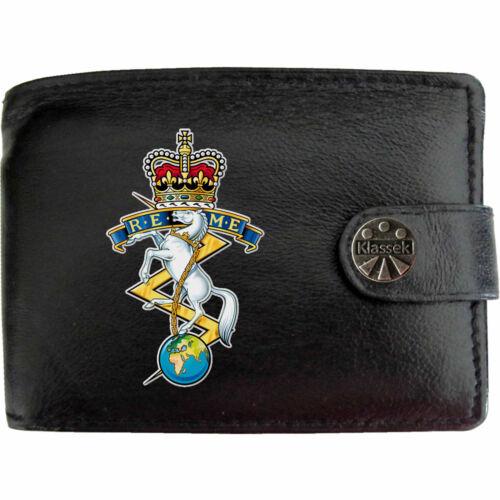 REME Engineers Armée sur Homme Portefeuille en cuir véritable RFID Chaîne Porte-clés tin box
