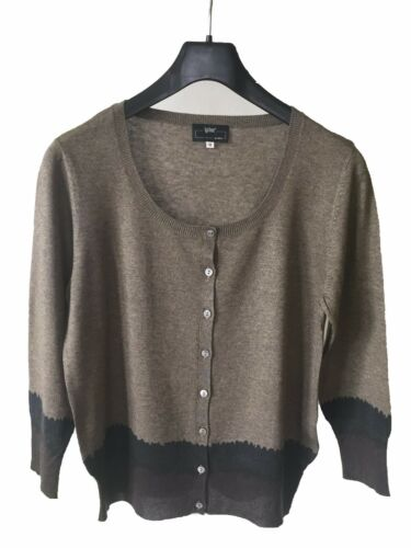 taille 36 Cardigan rond 45 cachemire 55 soie col gcHqYwC