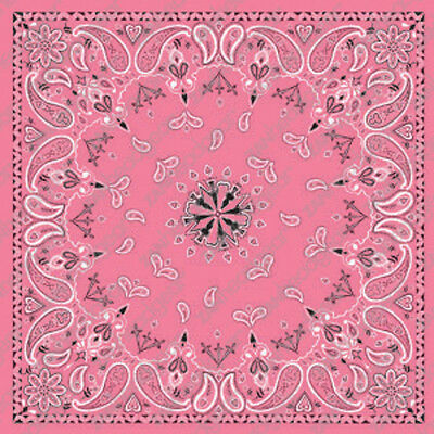 Pink Paisley Design ZANheadgear Brand Bandana Head Scarf  22x22