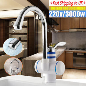 Details About 220v Led Electric Fast Instant Faucet Tap Hot Water Heater Bathroom Kitchen