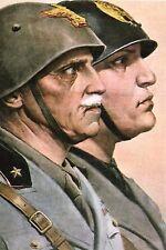 WW2 - Mussolini et le Roi d'Italie Victor-Emmanuel III