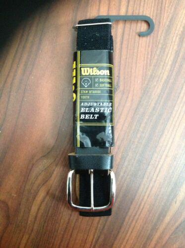 WILSON WTA4444 Youth Black Elastic Baseball Belt