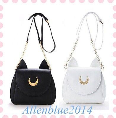 Sailor Moon 20th Anniversary Luna Artemis Shoulder PU Bag Leather Limit Gift New