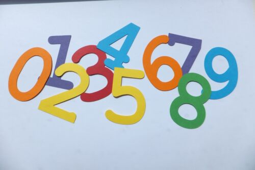 5cm alphabet words or numbers for DIY or craft projects