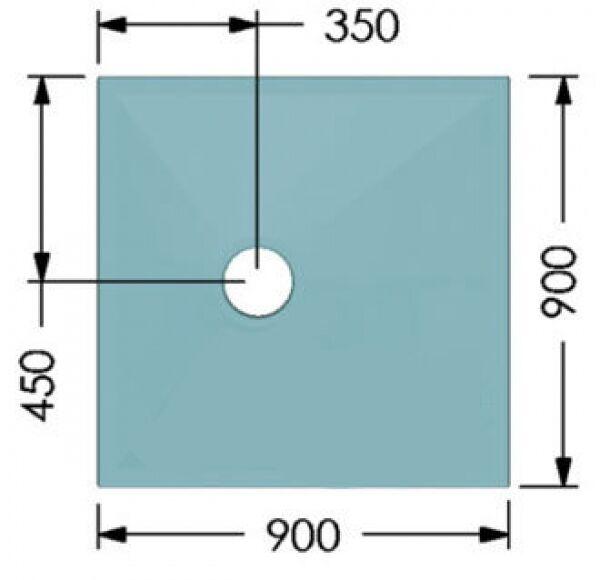 Wet room wetroom receveur de douche kit de tailles différentes pour un sol en vinyle