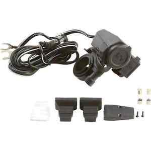 Diamond-Plate-Handlebar-Mount-5V-USB-12V-Lighter-Adapter-Accesory-New