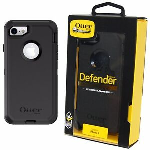 hot sale online 5c428 cab3e Details about Genuine OtterBox Defender Case/Cover for Apple iPhone 8 / 7 -  Black BRAND NEW