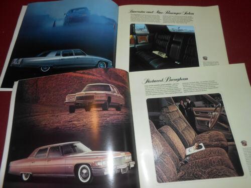 12 x 12 PRESTIGE BROCHURE CATALOG 75 ELDORADO DEVILLE CALAIS 1975 CADILLAC 24 p