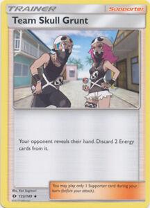 MINT 4X Sun /& Moon Pokemon TEAM SKULL GRUNT 133//149