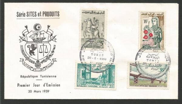 Analytique Répubique Tunisienne Fdc - Enveloppe 1er Jour 1959 Oblitération Tunis /fdca287 Art De La Broderie Traditionnelle Exquise