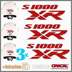 3x-S1000XR-BMW-Red-ADESIVI-PEGATINA-S1000-XR-AUTOCOLLANT-S1000-AUFKLEBER