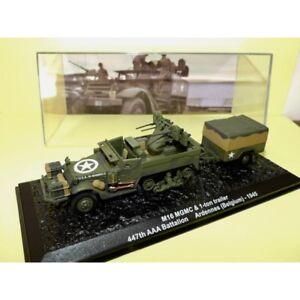 BLINDE-MILITAIRE-N-02-M16-MGMC-avec-Remorque-BELGIQUE-1945-ALTAYA-1-72