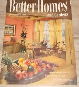 Better Homes & Gardens Magazine Vintage Feb. 1951 Recipes Illustrations 238 Pgs