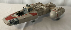 Vintage-Star-Wars-Y-Wing-Bomber-1999-Hasbro-Ship-Fighter-Red-Incomplete