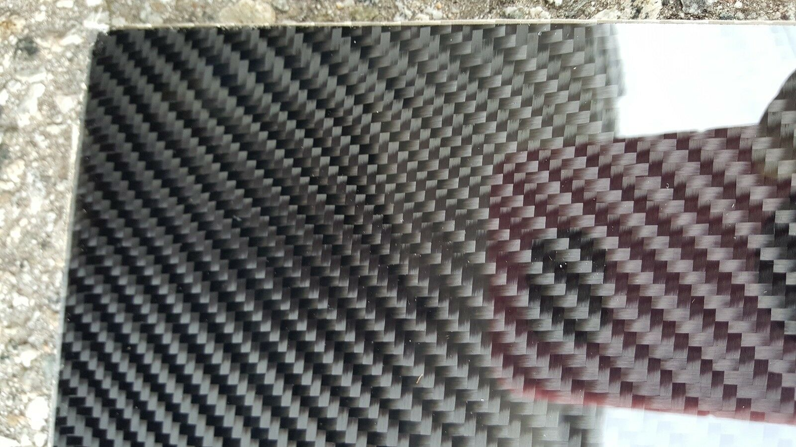 Carbon Fiber Fiberglass Panel Sheet 12 ×42 ×1/32  Glossy One Side