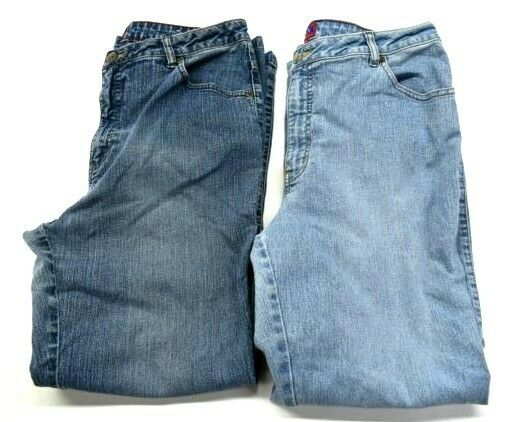 Lot of 2 Westport Denim Women 14 Classic Fit Regular Jeans Stretch Spandex bluee