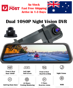 Dash-Camera-Mirror-Dual-1080P-IPS-DVR-Rearview-Car-Camera-Reverse-Camera