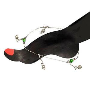 Fußkette Fußkettchen Fußschmuck Fusskettchen Fusskette Anklet Perlen Glöckchen