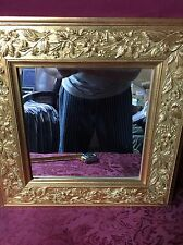 Vintage 16x16 Gold Colored Decorative Wall Hanging Mirror SHIPS RIGHT NOW!