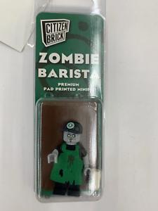 Zombie Barista Citizen Brick Minifigure