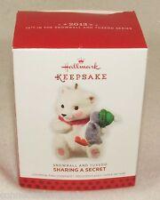 2013 Hallmark Keepsake Snowball and Tuxedo Sharing a Secret Christmas Ornament