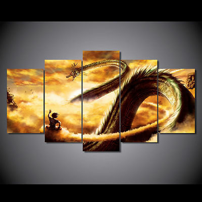 Anime Art Abstract Indoor DRAGON BALL  Canvas Printing with Frame