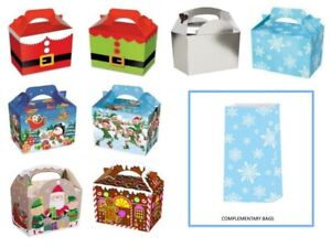 Christmas-Table-Present-Gift-Boxes-Party-Food-Boxes-PLUS-Free-Snowflake-Bags