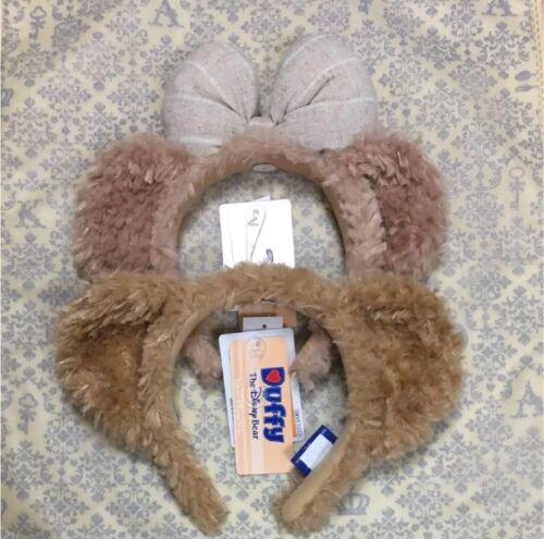 Tokyo Disney Resort Duffy Shellie May Headband Bear Ears Plush Toy Set 2 Pair