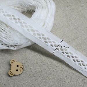 14Yds-Broderie-Anglaise-lace-trim-1-7cm-Net-0-8cm-Off-White-YH875s-laceking2013