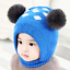 Toddler Winter Hat Scarf Baby Girls Earflap Hood Knitted Warm Pompom Skiing Cap
