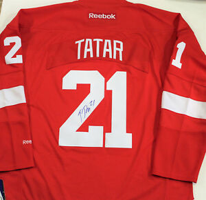 new product b3320 028e2 Details about Tomas Tatar Signed Detroit Red Wings Medium Authentic Jersey  w/COA 2018
