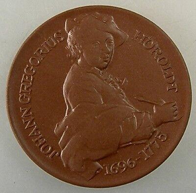 EntrüCkung Steinzeug Medaille Johann Gregorius Höroldt Meissen (32376)