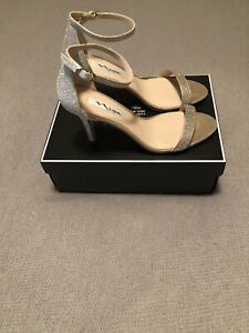 nina womens strappy heels open toe veniza yy gold soft platino dre 8 m brand new