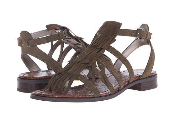 Sam Edelman Estelle Moss Green Suede Ankle Strap Sandale Damenss 6-10/ NEU