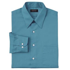 New Van Heusen Men/'s Fitted Checked Spread-Collar Dress Shirt Purple MSRP $45