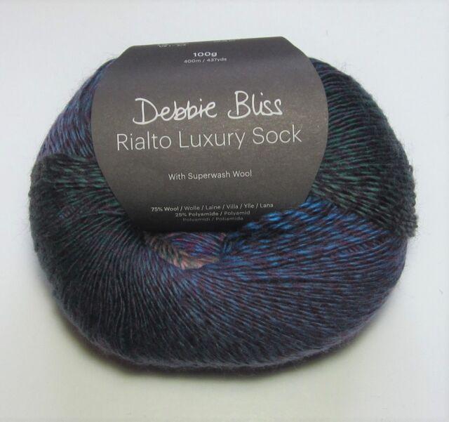 08 FUSION Debbie Bliss RIALTO Luxury Sock Wool//Yarn 100g