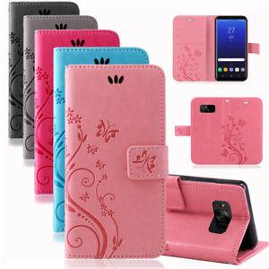 Samsung-Funda-para-Movil-Protectora-Flores-Plegable-Libro-Estuche