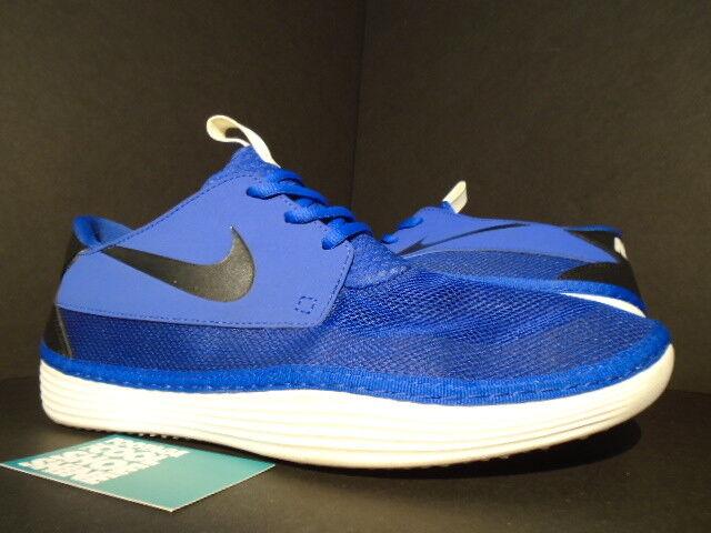 Nike SOLARSOFT MOCCASIN MOC GAME ROYAL Bleu noir SUMMIT blanc 555301-411 11