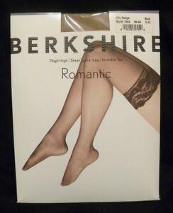 5f054b4872d Berkshire Romantic Lace Top Thigh High Sheer Leg Size C-D Med Large ...